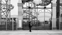 Closed Gates (deepaqua) Tags: brooklyn lunapark amusementpark offseason winter coneyisland blackandwhite rollercoaster ride