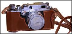 Canon_IIs-pb (Guyser1) Tags: camera rangefindercamera filmcamera 35mmfilmcamera canoniis canoncamera westyellowstone canoneos7d
