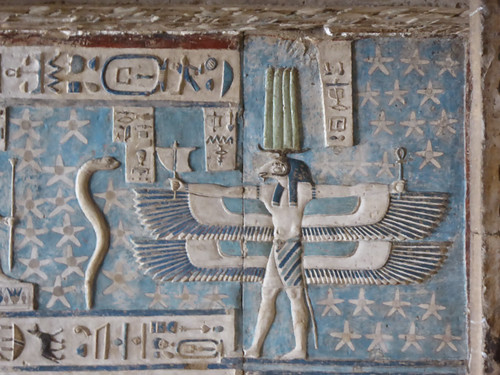 Winged Ram God (Khnum?), Dendera