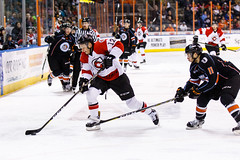 "Kansas City Mavericks vs. Cincinnati Cyclones, February 3, 2018, Silverstein Eye Centers Arena, Independence, Missouri.  Photo: © John Howe / Howe Creative Photography, all rights reserved 2018. • <a style=""font-size:0.8em;"" href=""http://www.flickr.com/photos/134016632@N02/28338397869/"" target=""_blank"">View on Flickr</a>"