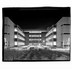 {forty} (Death By Sushi) Tags: edmonton architecture blackandwhitephotography longexposure nightphotography ilfordfp4 4x5film filmphotography largeformatphotography