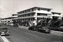 Ala Wai Terrace Waikiki 1952 (Kamaaina56) Tags: 1950s waikiki hawaii streetview realphoto