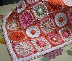 BUHBYE inteprets Ellen Gormley's Sunny Spread (crochetbug13) Tags: crochetbug crochet crocheted crocheting texturedcrochetcircle crochetcircles ellengormley crochetthrow crochetblanket crochetafghan