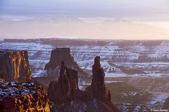 Mesas, Mountains, and Pinnacles (isaac.borrego) Tags: snow desert moab utah canonrebelt4i canyonlands nationalpark