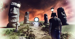 To the stars. (Sergio Delacruz) Tags: moai sansar delacruz stargate stars fantasy scifi landscape