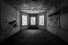 IMGP7434-Edit (Drew's Arcade) Tags: traverse city state hospital michigan pure abandoned bnw balck white