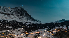 Grindelwald by night (Thom O.) Tags: ifttt 500px grindelwald switzerland landscape mountain mountains village lights snow sky stars longexposure night nightscape winter