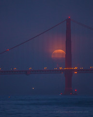 Do You Have Plans to Shoot The Blue Moon This Month? (Jeffrey Sullivan) Tags: full moon golden gate bridge san francisco marin county headlands california usa landscape nature seascape beach night photography astronomy astrophotography canon eos 5dmarkii photo copyright february 2010 jeff sullivan fog weather