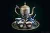 Tarnished.jpg (mraderstorf) Tags: painted tarnished silver 50mmf14 relax old nikond700 milk tea plated drink goldleaf corrosion porcelain platter sugar blue antique cobalt teapot etched plate pottery 365 365project project365