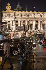 Opéra Garnier le soir (2.6 m views ! https://society6.com) Tags: 17janvier2018 paris visite jsebouvi car opera house light street city evening night soir garnier architecture