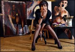l' atelier de Sandrine (gérard lavalette) Tags: artiste sandrinepaillard atelier peintre peinture femme sexy ambiance tableaux gérardlavalettephotographe paris