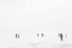 lost under a painted Sky (*Capture the Moment*) Tags: 2017 abenteuer adventure eis eisplatte fog glacier gletscher ice icestream iceland island langjökull menschen nebel people sonye18200mmoss sonynex7 wetter cold cool foggy kalt monochrome neblig schwarzweiss