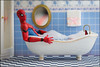 """Honey, that darn spider is in the bath tub again..."" (Pikebubbles) Tags: davidgilliver davidgilliverphotography spiderman marvel marvelcomics marvellegends toys toy toyart miniature miniatureweekly miniart miniatureart creative creativephotography actionfigure funny fineartphotography canon macro bathing bath bathroom inthebath bathtime"