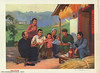 Talking freely about very good circumstances (chineseposters.net) Tags: china poster chinese propaganda 1973 countryside soldier peasant thermos pasystem newspaper rifle bayonet pipe militia