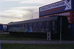 De laatste Plan N (lex_081) Tags: 16a06 plan n amsterdam westhaven hks sloop 516 bc 7014 ns rijtuig slaaprijtuig graffiti suez