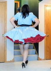 Square 1 (Deedee Fullskirt) Tags: crossdresser highheels transvestite petticoat