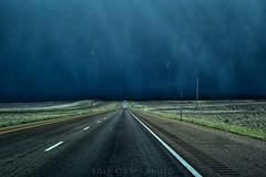 Let it snow (rolfstumpf) Tags: usa wyoming interstate i80 fortbridger winter snow snowstorm dark sky storm travel roadtrip roadtravel