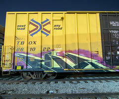SAE (TRUE 2 DEATH) Tags: sae longexposure boxcar train freight railroad benching railfan railcar trains graffiti graf railways tag freighttrain freighttraingraffiti rollingstock cts ems