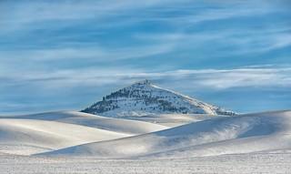 Snowy Steptoe Butte