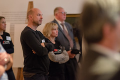 Darren Westlake, CEO, Co-founder of Crowdcube and Rose Elliott from TEDxExeter Team watching the talks at the TEDxExeter 2018 launch event at Royal Albert Memorial Museum (TEDxExeter) Tags: exeter tedxexeter tedx tedtalks exetercity devon ramm royalalbertmemorialmuseum technology entertainment design innovation speakers audience tedxexeter2018 tedxexeter2018launch tedxexeterlaunch sponsors crowd 2018 england eng