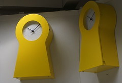 Yellow clocks (spelio) Tags: ikea shopping sets test a6000 sony stuff things shooting art display clock time