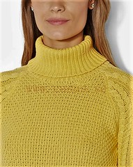 Turtleneck (Mytwist) Tags: cableknit turtleneck sweater aran yellow knit knitwear style fashion outfit tn tneck wool fetish retro classic craft winter women design love girl wife
