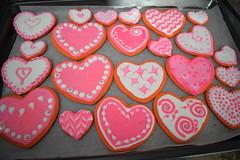 Valentine Cookies (ladybugdiscovery) Tags: heart hearts valentine cookies red pink white shape cutout sweet treat