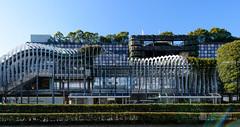 The facade of Tamagawa Takashimaya SC (玉川髙島屋S・C本館) (christinayan01 (busy)) Tags: tokyo japan architecture building perspective department store takashimaya kengo kuma