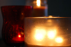Candles Aglow. (dccradio) Tags: lumberton nc northcarolina robesoncounty indoors inside light illuminated candles darkness dark candle fire flame glow aglow lettherebelight flickrfriday nikon d40 dslr