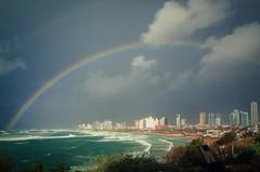 Rainbow (Galambos Viktor) Tags: telaviv coast rainbow ricohgr