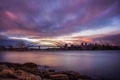Sunset at Sydney Harbour (satochappy) Tags: sydney sydneyharbour sydneyoperahouse sydneyharbourbridge mrsmacquarieschair mrsmacquariespoint