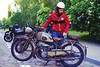 A man and his motobike (Analog World Thru My Lenses) Tags: nikonfa zoomnikkor3570mmf35 fujicolor200 june 2017 motobike oldtimer peugeot p55gl peugeotp55gl explore vintage