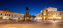 _MG_2574 - Theaterplatz in Dresden (AlexDROP) Tags: 2017 dresden saxony germany deutschland travel architecture color city wideangle urban night scape canon6d ef16354lis historicalplace best iconic famous mustsee picturesque postcard hdr europe landmark