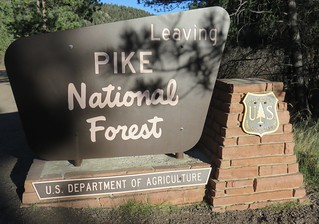 Pike National Forest Sign (El Paso County, Colorado)