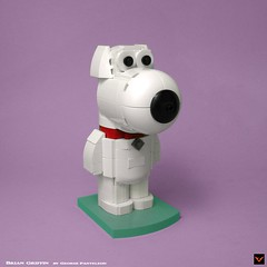 Brian Griffin (ZetoVince) Tags: zeto vince zetovince lego toy toys comedy comics cartoon family guy peter brian griffin stewie tv show greek