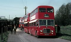cumb - ribble 1546 carlisle kingmoor loco shed 30-4-66 (johnmightycat1) Tags: bus leyland ribble fullfront cumbria