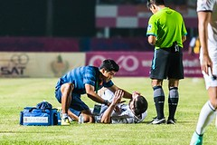 Sisaket Thailand-october 15: First Aid Team Of Buriram Utd. (blue) In Action During Thai Premier Lea (Fort Lauderdale DUI Lawyers) Tags: 2014 action aid asia asian ball break buriram club competition cramp doctor fc first firstaid football footballteam foul game head hurt injured injury kick knee lamduan league legs match medical medicalteam medicine nakhon pain painrelief physical physician physiotherapists physiotherapy play player premier referee relief sisaket soccer soccerstadium soccerteam sport sportsinjury spray sri stadium staff tackle team thai thailand tpl united