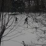 Running in the Snow, pseudo-b&w thumbnail
