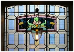 Holy Light 1 (donbyatt) Tags: birmingham mku3a outing church stpauls jewelleryquarter stainedglasswindow lamp light patterns