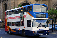 16722 N722 LTN (Cumberland Patriot) Tags: stagecoach busways travel services north east england newcastle upon tyne and wear pte passenger transport executive volvo olympian alexander rl 722 16722 n722ltn step entrance double deck decker bus derv diesel engine road vehicle omnibus buses swoops 1 neville street