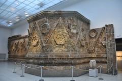 Facade of Qasr Mshatta, Umayyad, 8th cent.; Pergamon Museum, Berlin (5) (Prof. Mortel) Tags: germany berlin pergamonmuseum islamic umayyad mshatta