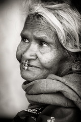 Old Lady and Didayi Damsel member (Ditisit) Tags: didaydamsel female woman tribe india orissa bw black white adivasi indigenous native old