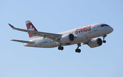 Swiss Bombardier CSeries CS100 (AMSfreak17) Tags: amsfreak17 danny de soet canon 70d lhr egll london heathrow airport luchthaven vliegtuigen vliegtuig aircraft airplane jet jetphotos planespotting luchtvaart vertrek aankomst departure arrival spotter planes world of airplanes united kingdom great britain europe landing approach runway 27r 09l swiss bombardier cseries cs100 hbjbd