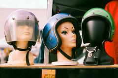 (Casey Lombardo) Tags: heads helmets mannequins mannequin motorcyclehelmets helmet retro sparkle longbeach longbeachca kodak kodakfilm kodakgold expired expiredfilm film filmphotography colornegative colorfilm minoltasrt101