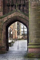 Cathedral Doorway. (digital defect) Tags: helios cathedral doorway sandstone