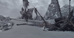 dead dragon in winter (Madoka Magika) Tags: ffxiv final fantasy dragon heavensward