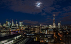 Moon over London from the Tate Modern (Big Ben in Japan) Tags: bluehour london night shard uk