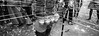 Pots of Milk... (Jetlag & A Camera Bag) Tags: thaipusam hindu festival littleindia singapore panoramic hasselblad xpan 35mm film analog blackwhite travelphotography streetphotography ilford hp5 devotion