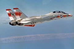 VF-1 F-14A Tomcat BuNo 158627 (skyhawkpc) Tags: aviation navy usn naval aircraft airplane usnavy vf1wolfpack f14a tomcat 158627 nk101 inflight 1973 grumman