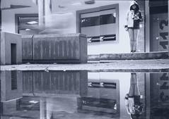 Mirror Young Otaku Portrait (Luisa Vélez) Tags: nikon f3 ilford delta black white film bogotá bw street photography surrealism monocromático